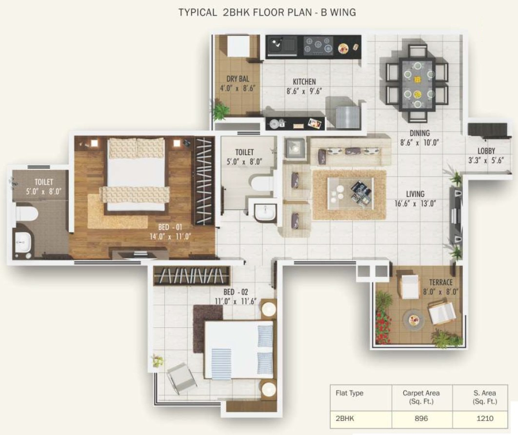2 BHK Layout